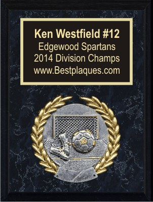 Sports Plaques 6x8 Black Marble
