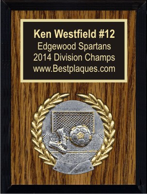Sports Plaques 6x8 Dark Oak