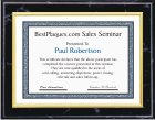 Certificate Plaques Gold Frame
