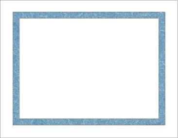 Certificate Frame Paper Blue
