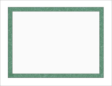 Certificate Frame Paper Green