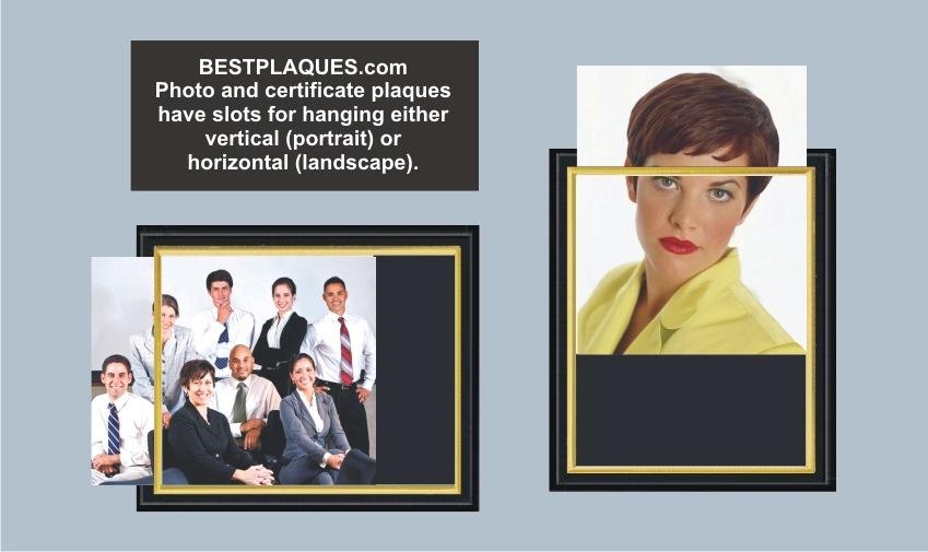 Photo Plaque Matte Black Slide in for 8x10 Photo