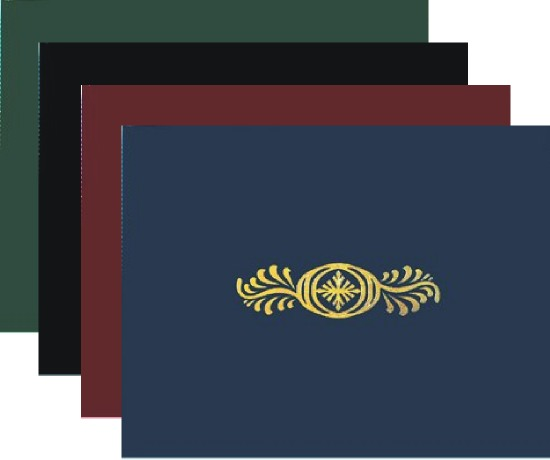 Certificate Holders - Mixed Color Folders