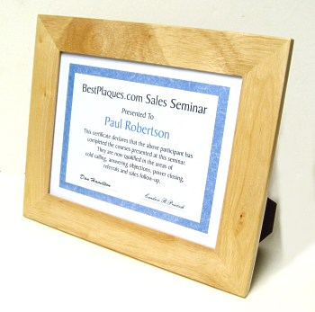 Certificate Frame Standing