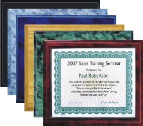 Certificate Plaques Wholesale