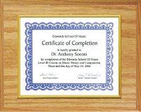Certificate Plaque Oak