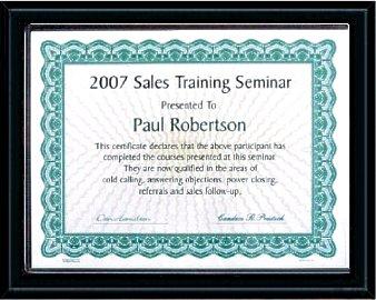 Certificate Plaques Black