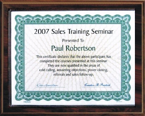 Certificate Plaques Kits