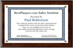 Certificate Plaques for 8.5x14