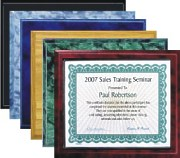 Mixed Colors Best Value Certificate Plaques