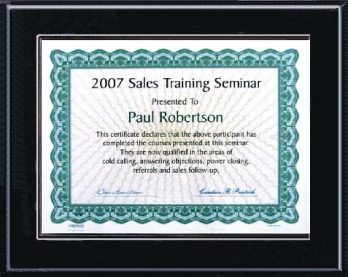 Certificate plaques for 5x7