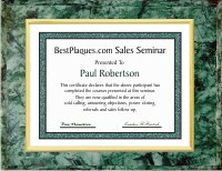 Certificate Plaques Green Marble