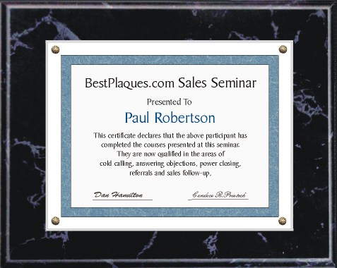 Certificate Plaques for 8.5x11