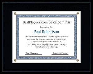 Certificate Plaques LARGE