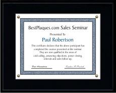Certificate Plaques Matte Black 12x15