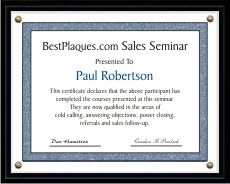 Certificate Plaques for 11x14