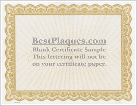 Certificate Paper Gold Border