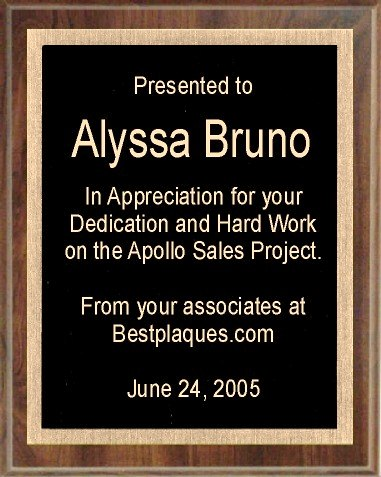 Engraved Plaque 8x10