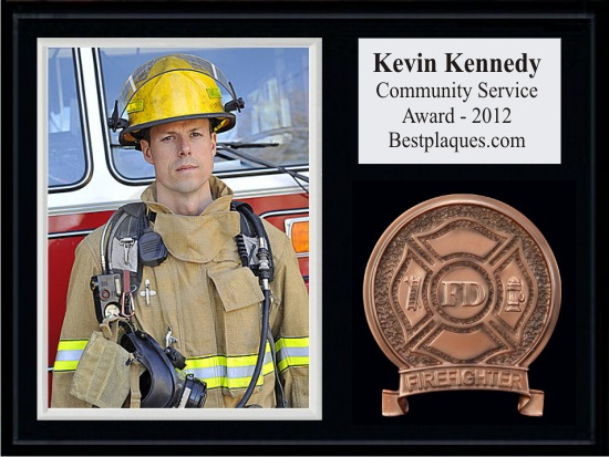 Fireman Photo Plaques