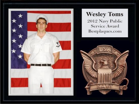 Navy Photo Plaques