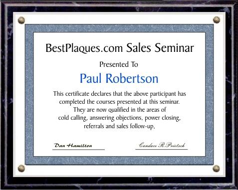 Certificate Plaques