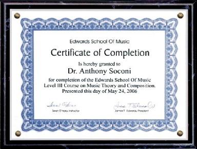 Certificate Plaques 5x7