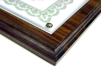 Certificate Plaque Walnut