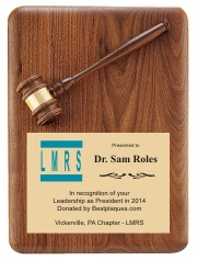 Gavel Plaques with logo