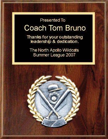 Sports Plaque 7x9 Coach