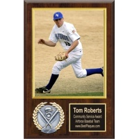 8X10 Memory Mate Economy Plaques Walnut Style - 12X15 Plaque Fits a 8X10 Photo & Sports Emblem