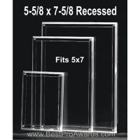 5 -5/8 x 7-5/8 Acrylic for 5x7 photos with recessed area M5XPH57