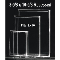 8-5/8 x 10-5/8 Acrylic for 8x10 photos with recessed area M5XPH
