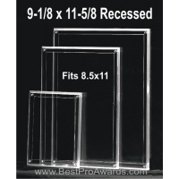 9-1/8 x 11-5/8 Acrylic for 8.5x11 Certicicate or Photos with recessed area M5XPH811