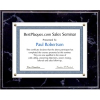 11X14 Certificate Plaque Kits Black Marble Style - 15X18 Plaque holds an 11X14 Certificate