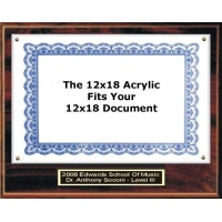 Certificate Plaque Kit Walnut Style - 16x20 Plaque for 12x18 Plus 2 Lines of Free Engraving Certificate