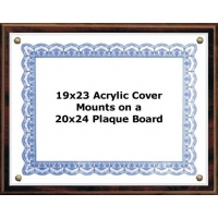 Certificate Plaque Kit Walnut Style - 20x24 Plaque for 19x23 document Certificate