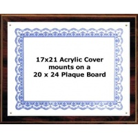 Certificate Plaque Kit Walnut Style - 20x24 Plaque for 17x21 document Certificate