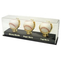 3 Baseball Display with engraving