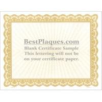 8.5 x 11 Certificate Paper - Gold 25 Sheets per Pack