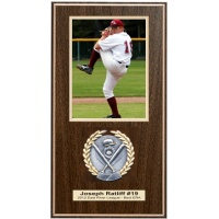7.5x14 Vertical Deluxe Photo Plaques Assorted Colors