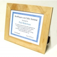 8.5 x 11 Certificate Frame Oak - Oak Quality Wood Frame Holds 8.5 x 11 Certificate