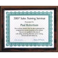 10.5X13 Walnut Style Plaque Kit Best Value Slide In Holds 8.5X11 Certificate