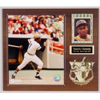 8X10 Photo Card & Emblem Deluxe Plaque Kit Walnut Style - 12X15 Plaque Fits an 8X10 Photo, Gold Border Snap Tite & Gold Sports Emblem, 2 Lines of Free Engraving