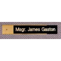 """10"""" Metal Door or Wall Nameplate Gold Color - Includes Free Engraving"""
