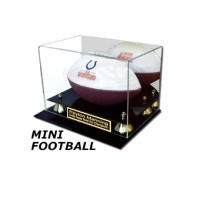 Mini Football Display Case with Black Acrylic Base