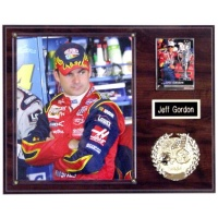 8X10 Photo & Emblem Plaque Kit Walnut or Black Marble Style - 12X15 Plaque Fits an 8X10 Photo, Custom 1x3 Engraved Nameplate with Gold Backing & Sports Emblem