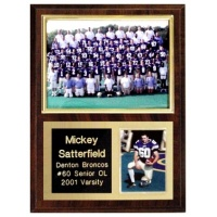 5X7 Memory Mate Deluxe Plaques Walnut Style - 9X12 Plaque Fits a 5X7 & 2.5X3.5 Photo