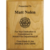 7X9 Genuine Red Alder Laser Engraved Plaques