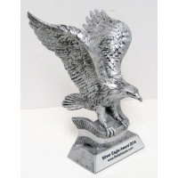 "10"" Silver Eagle Award - with Flag FREE ENGRAVING"