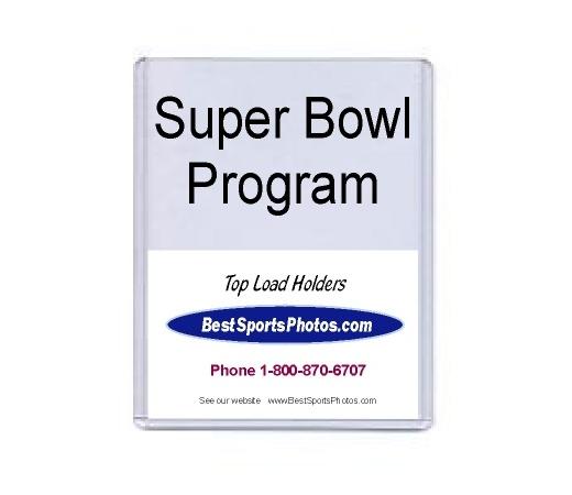 8 7/8 x 11.5 Super Bowl Program Top Load Holder - Pack of 10